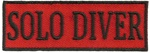 SOLO DIVER - EMBROIDERED PATCH - BLACK AND RED