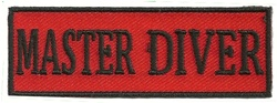 MASTER DIVER - EMBROIDERED PATCH - BLACK AND RED
