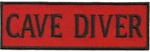 CAVE DIVER - Red and Black stick on patch
