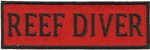 REEF DIVER - Red and Black stick on patch