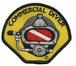 COMMERCIAL DIVER STICK ON PATCHES - YELLOW