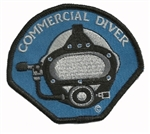 COMMERCIAL DIVER STICK ON PATCHES -BLUE
