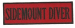 "SIDEMOUNT DIVER- - 4"" X 1.25"" - BLACK AND RED WITH STICK ON BACKING."