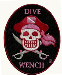 DIVE WENCH OVAL PIRATE PATCH
