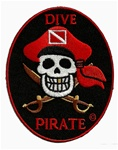 DIVE PIRATE OVAL PIRATE PATCH