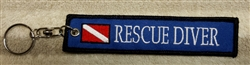 RESCUE DIVER KEY RING - Zipper Pull- WHOLESALE Price