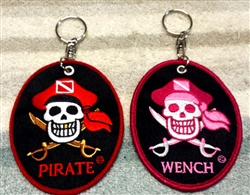 WENCH KEY RING AND PIRATE KEY RING SET