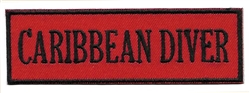 CARIBBEAN DIVER- Red and Black stick on patch