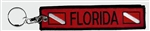 FLORIDA Scuba Diver Key Ring/Zipper pull- Red Wholesale - 10