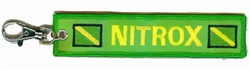 Nitrox Scuba Diver Key Ring/Zipper Pull - WITH CLIP ON ATTACHEMENT