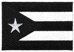 Puerto Rico Country Flag - BLACK AND WHITE
