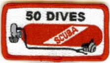 50 Dives Scuba Tank Patch