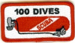 100 Dives Scuba Tank Patch